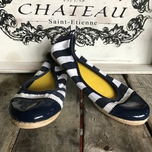⭐️Nautica blue and white striped ballet flats